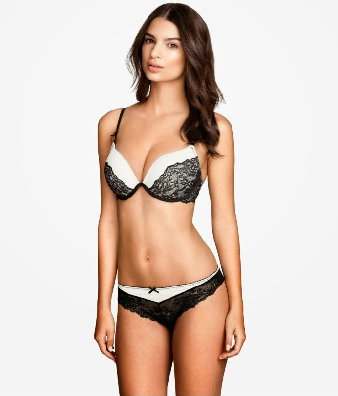 H&M Lingerie 2015 Lookbook featuring Emily Ratajkowski