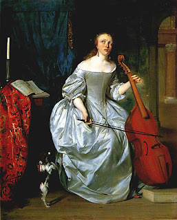 Woman Playing a Viola de gamba, Gabriël Metsu