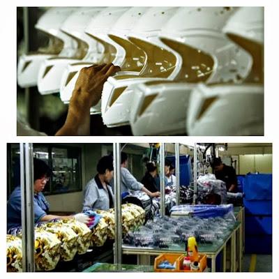 motorcycle helmet factory