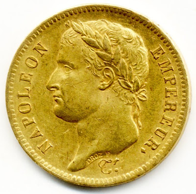 France Napoleon 1st Gold Coin 40 Francs Of 1811 World