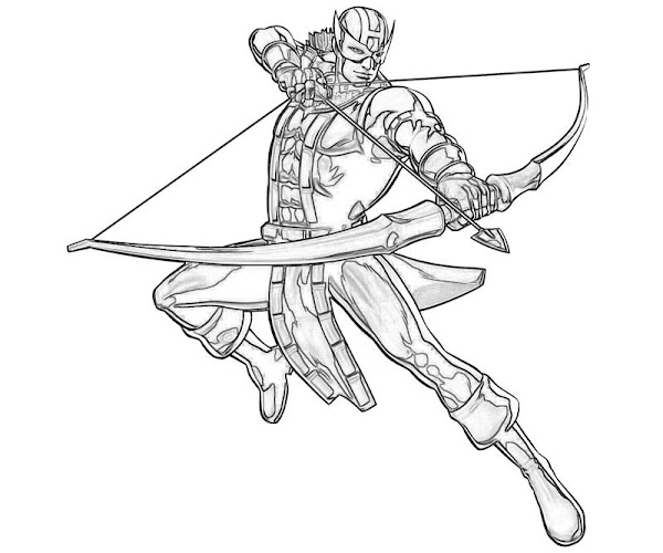 Marvel Hawkeye Coloring Pages Printable