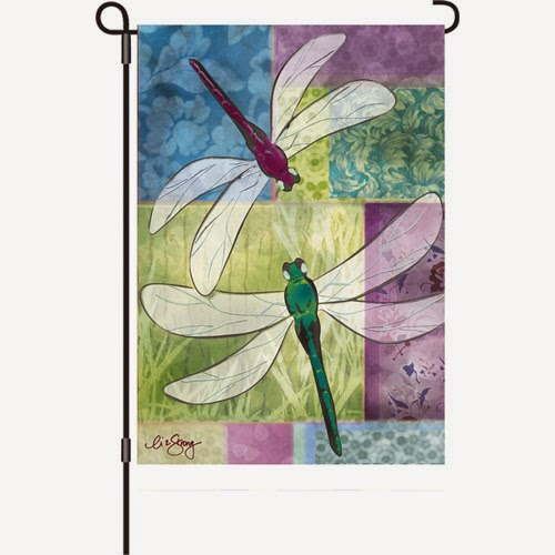 dragonfly duet summer garden flag