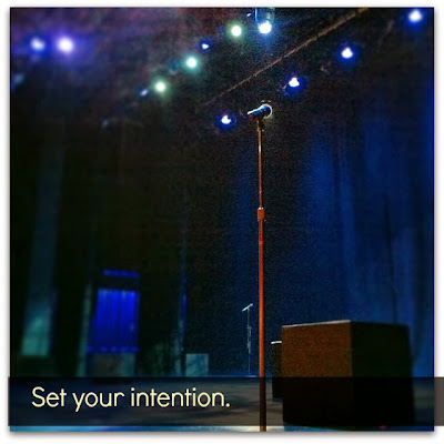 Set your intention.