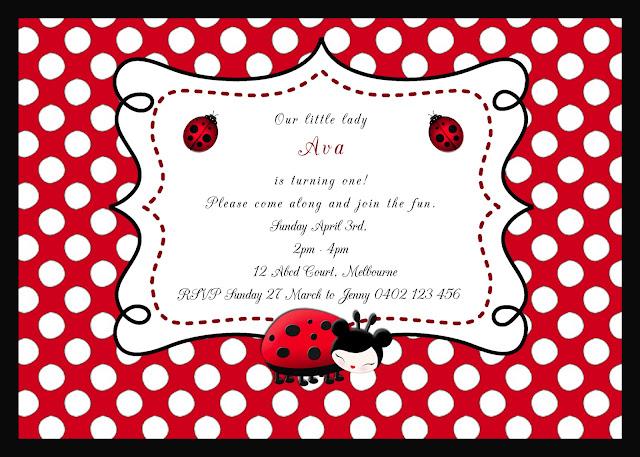 Ladybug Invitation Template