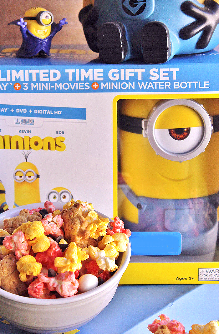 Pick up the Minions movie on Blu-Ray and DVD in one of 5 exclusive bundles, with colectible packaging, souveniers, and more! It's the only place you'll find the 3 all new mini movies! #MinionsMovieNight (Ad)