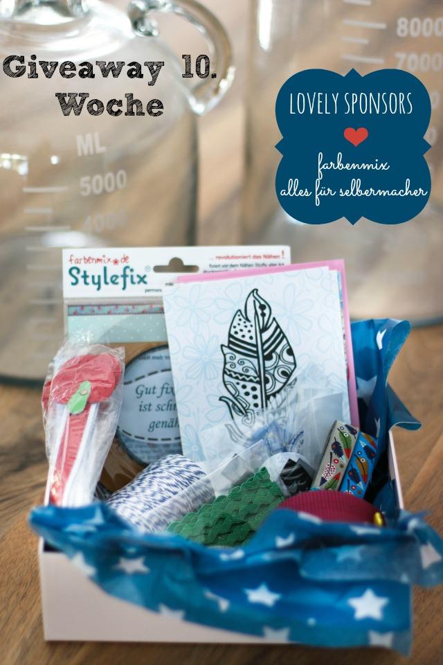 Giveaway alles für selbermacher und farbenmix für Taschenspieler Sew Along bei Frühstückb bei Emma