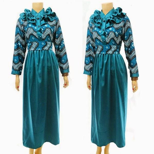 Baju Batik Busana Muslim Gamis
