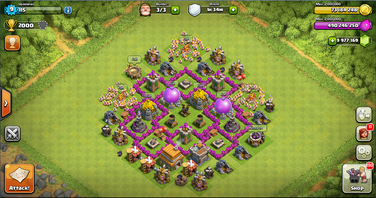 Farming base clash of clans th 6 design base clash of clans terbaik