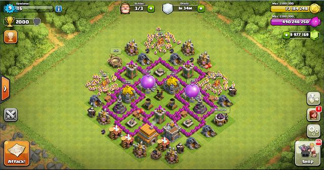 Farming Base Clash of Clans TH 6