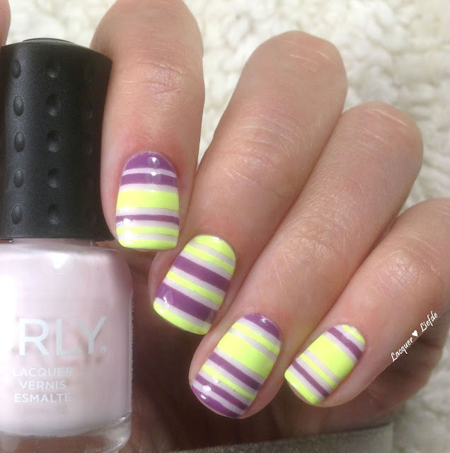 Orly Sugar High Striping Design Key Lime Twist und Cake Pop
