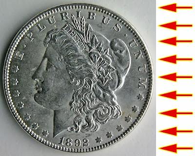 coin photography back lighting setup