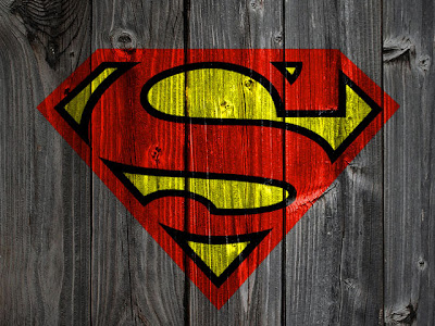 Superman on Wood
