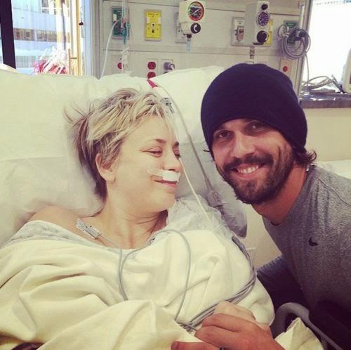 Kaley Cuoco photos from the hospital room