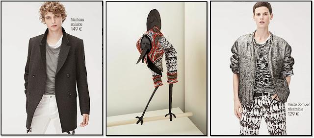 Collaboration H&M x Isabel Marant 2013, Lookbook hommes femmes lou Doillon Mia Jovovitch robe en soie pantalon imprimé