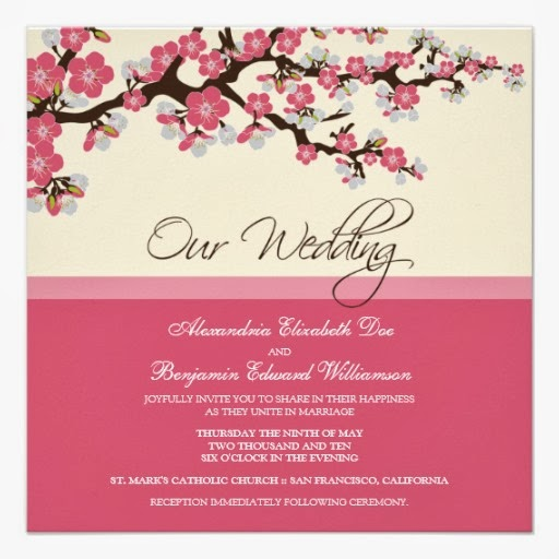 Wedding Invitations Cherry Blossoms Cherry Blossom Wedding Invitations  Wedding Invites. Wedding Invitations ...