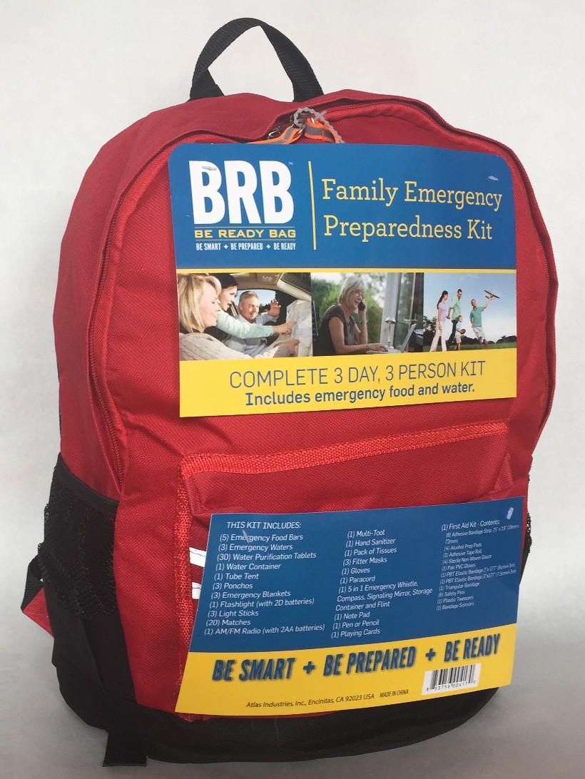 Brb family emergency preparedness kit water