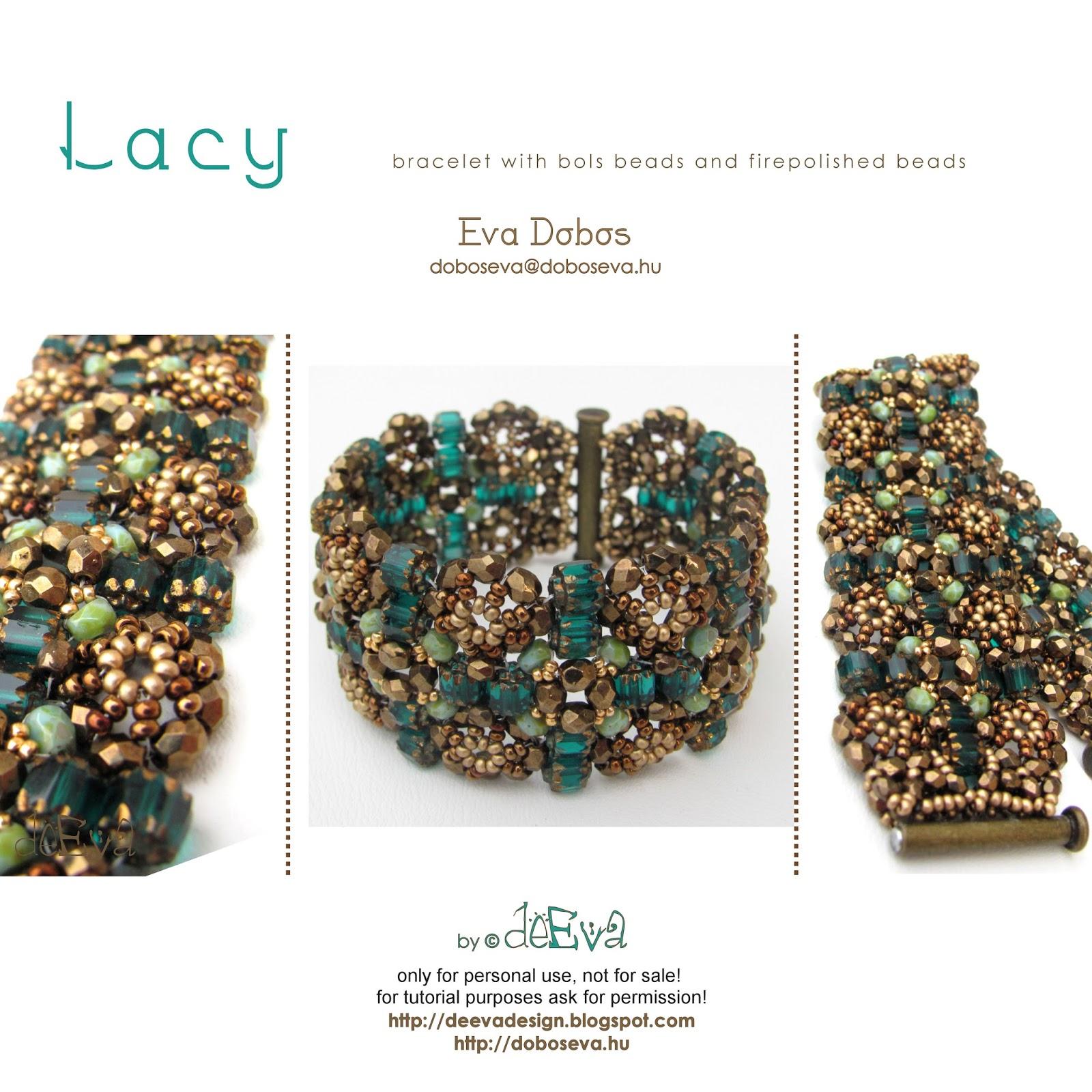 deEva - beaded jewelry: New tutorials/patterns on Etsy: Lacy, Ninwa