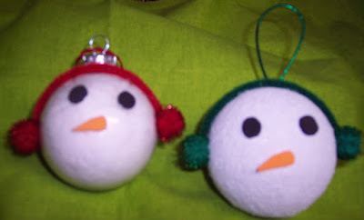 Snowman friends styrofoam ornaments