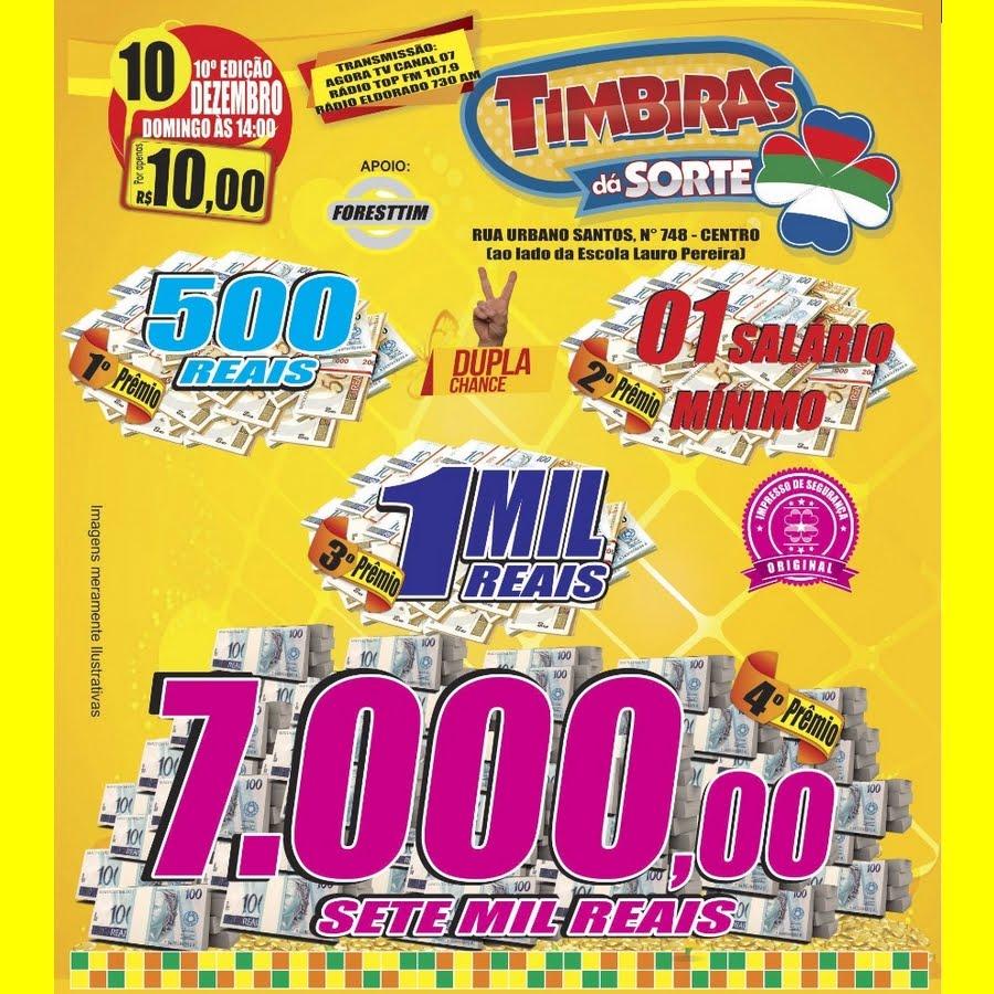 TIMBIRAS DA SORTE (10/12)