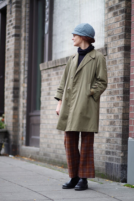 Rachelle Taylor plaid pants seattle street style fashion hat Ballard It's My Darlin'