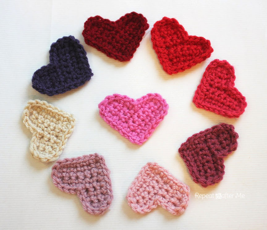 Crochet Heart : Repeat Crafter Me: Easy Crochet Heart Pattern
