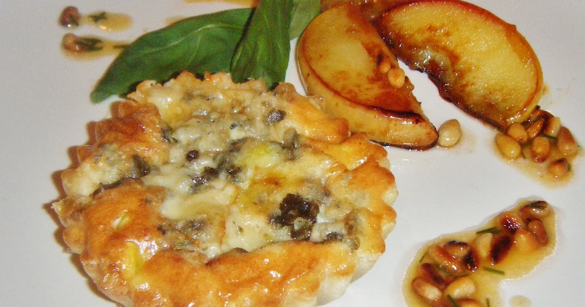 ... Leek and Roquefort Tart with Caramelised Apple and Pine Nut Dressing
