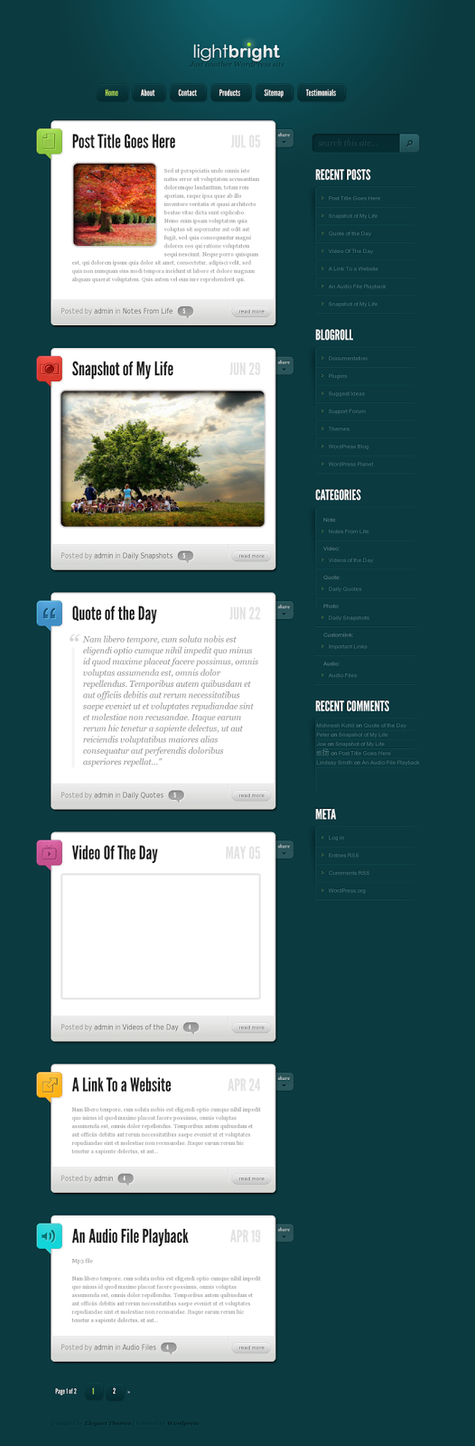 LightBright WordPress Theme