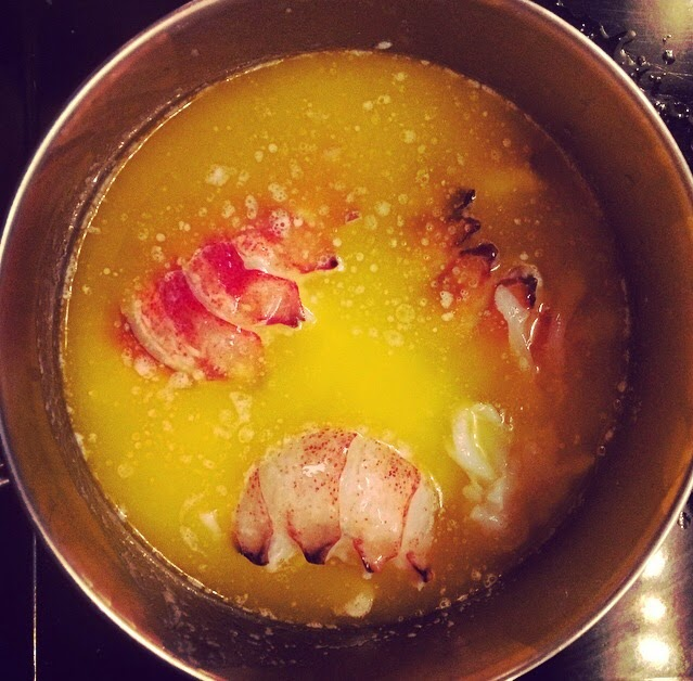 Creamy Baked Butter Poached Lobster Tails