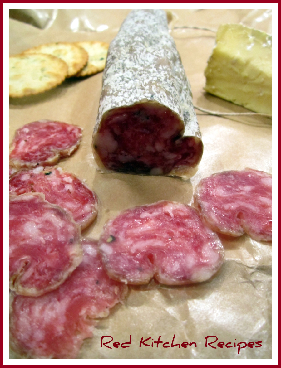red kitchen recipes charcuterie plate with creminelli tartufo salami