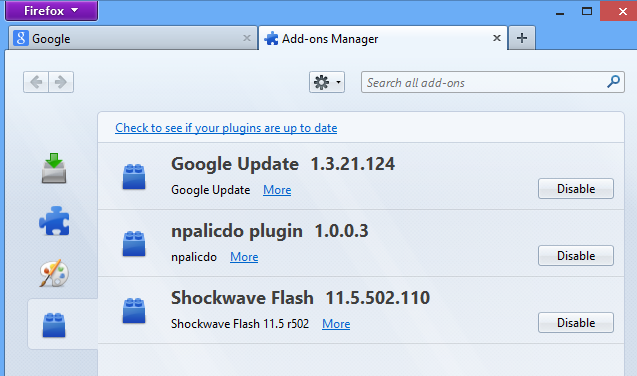 update shockwave firefox