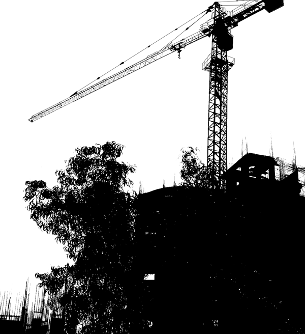 Silhouettes of Cranes Used in