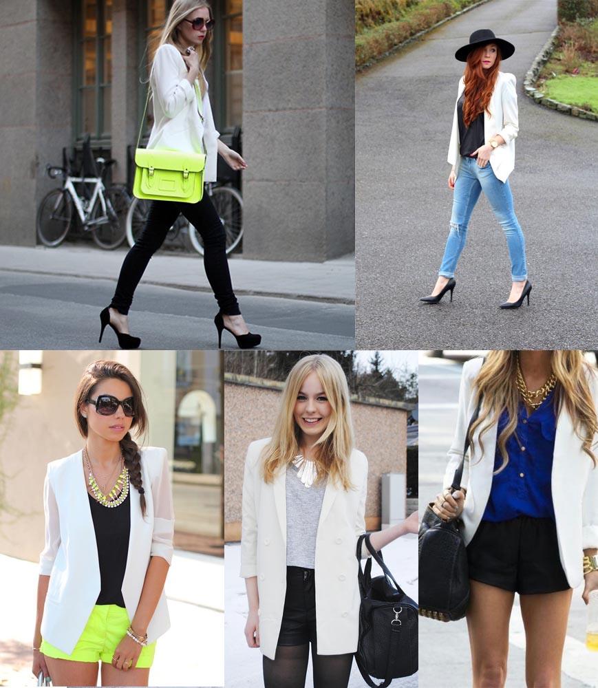 bloggers wearing white blazers