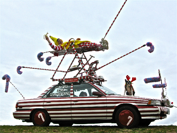 Candy Cane Car Not For Sale by Pogo Dave