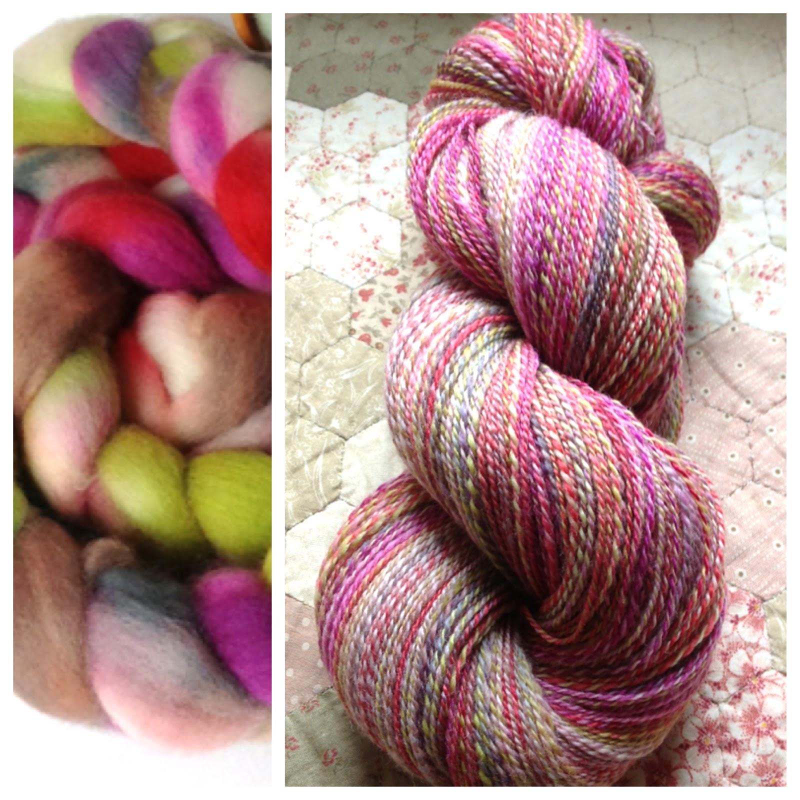 Knitting Handspun Yarn : Littlebobbins knitting with handspun