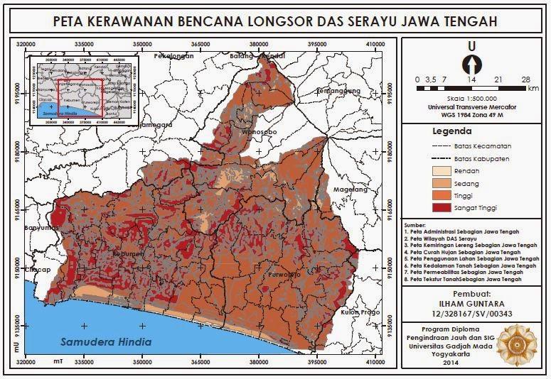 Peta Kerawanan Bencana Longsor DAS Serayu Jawa Tengah www.guntara.com