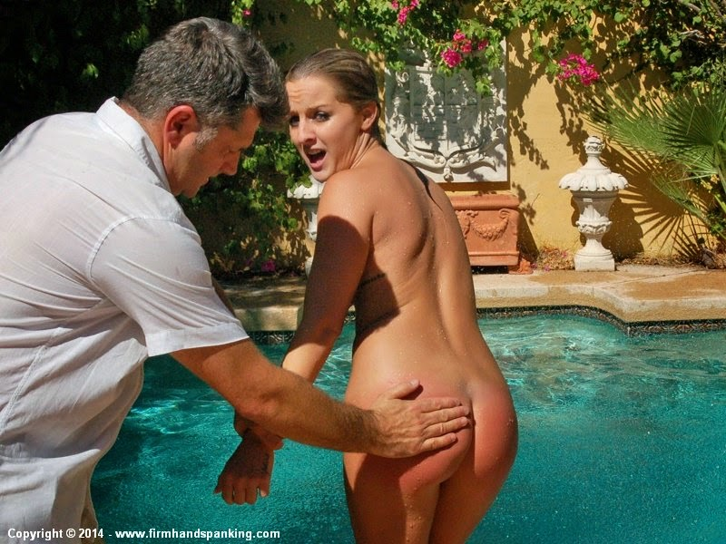 spanked at the pool