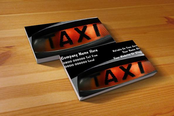 Mẫu card visit taxi 2