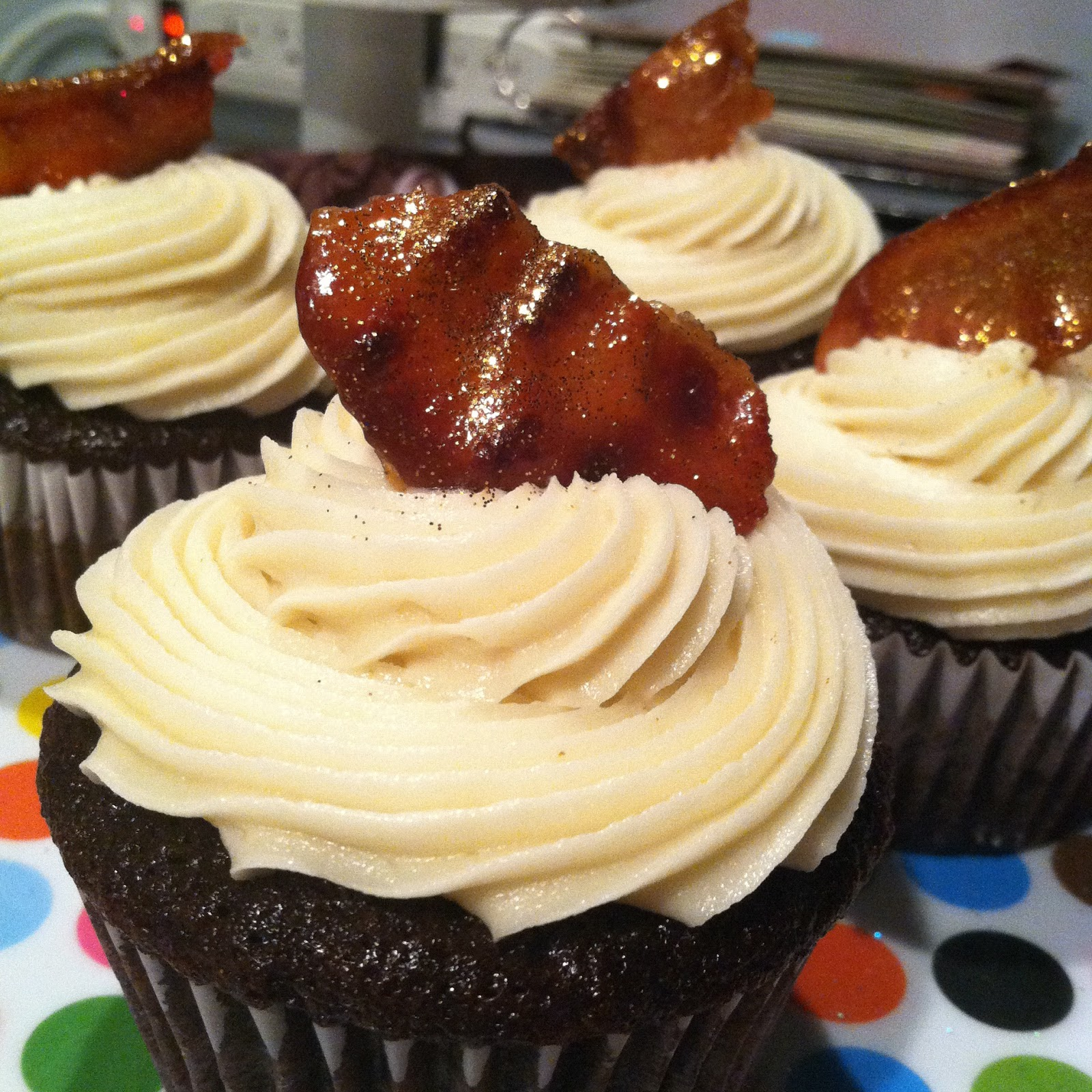 ... Cupcake. Sweet Dreamer ♥: Fearless Chocolate Maple Bacon Cupcakes