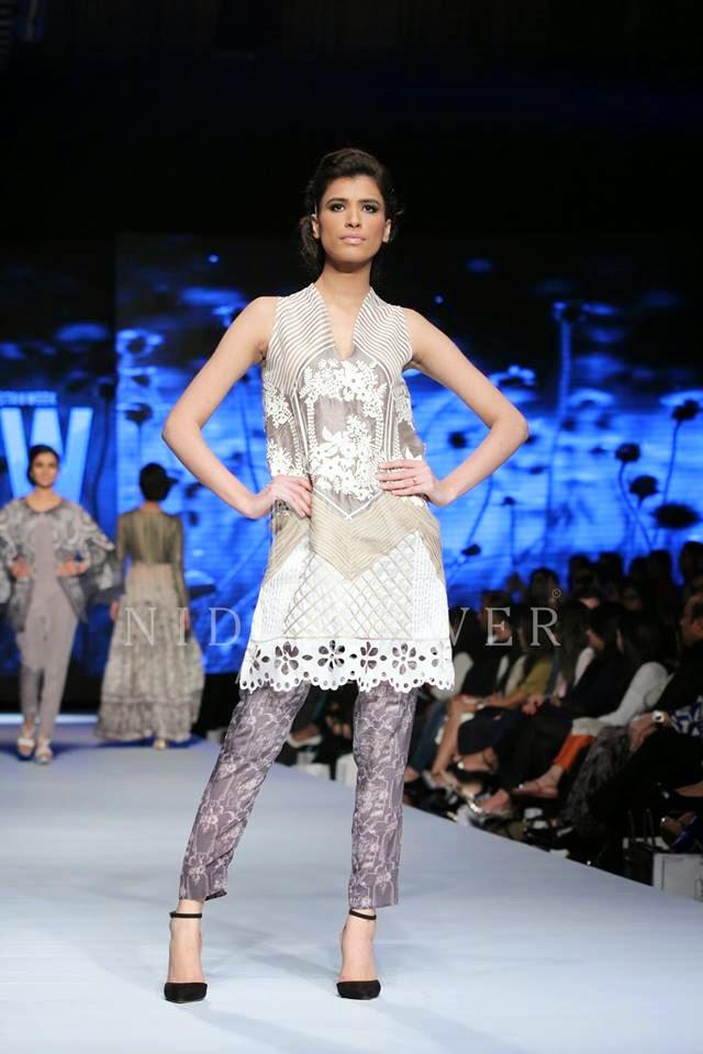 Nida Azwer Stylish French Trellis 2015 at TFPW