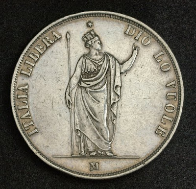 Italian States Coins 5 Lire Silver coin Lombardy Venetia
