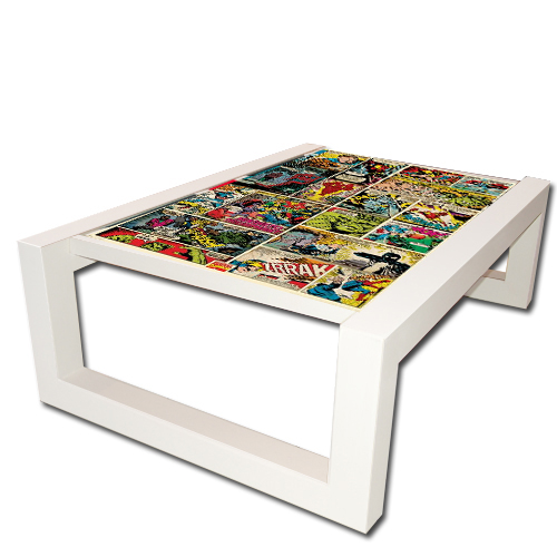 decoupage poster coffee tables