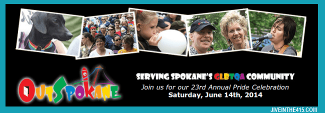 An Advert for OutSpokane's 23rd Annual LGBT Gay Pride Celebration