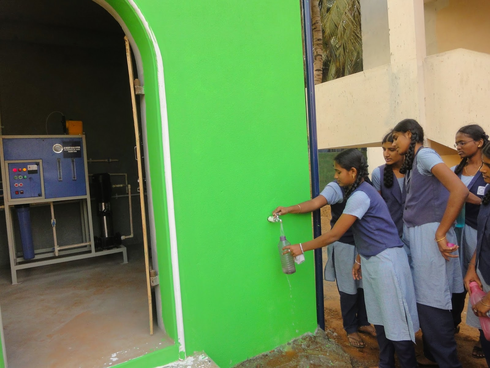 SEVAI Shanthi Matric Higher Secondary School gets RO Drinking water.