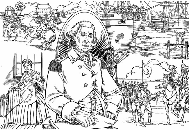 free american revolution coloring pages - photo#21