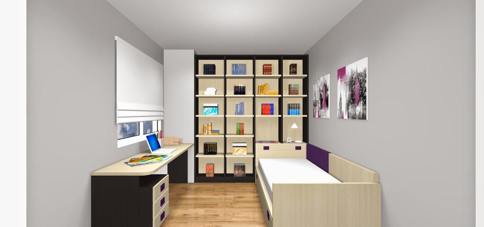 Habitación-con-estanteria