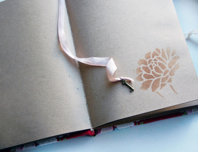 блокнот с листами из крафт бумаги