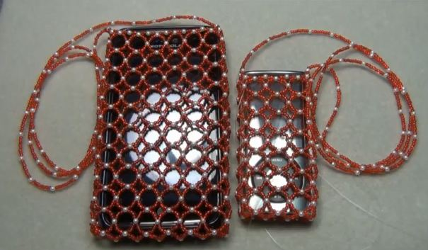 beaded purse or cell phone holder tutorial the