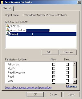 cara manual block situs di windows 7