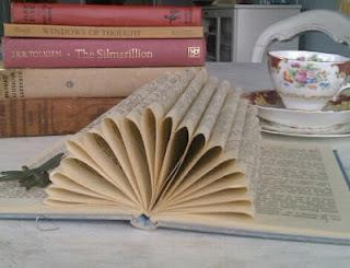 folded book sculpture etsy flower