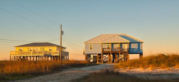 Beeindruckende Strandhäuser auf Pfählen